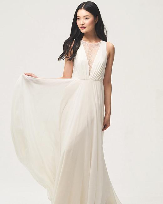 jenny by jenny yoo fall 2018 v-neck lace panel wedding dress