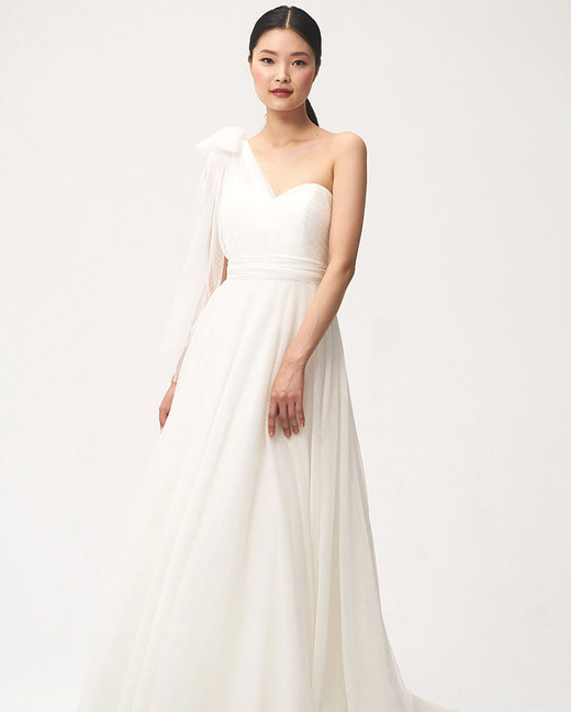 jenny by jenny yoo fall 2018 one shoulder bow detail wedding dress