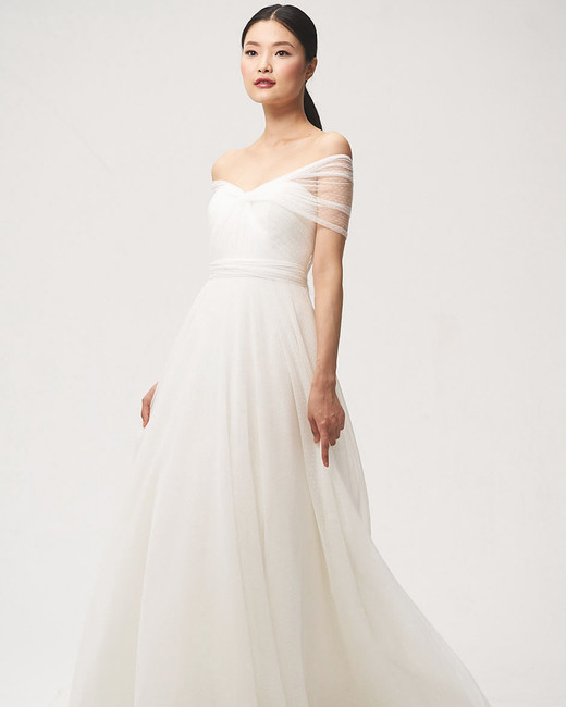 jenny by jenny yoo fall 2018 off shoulder a-line wedding dress