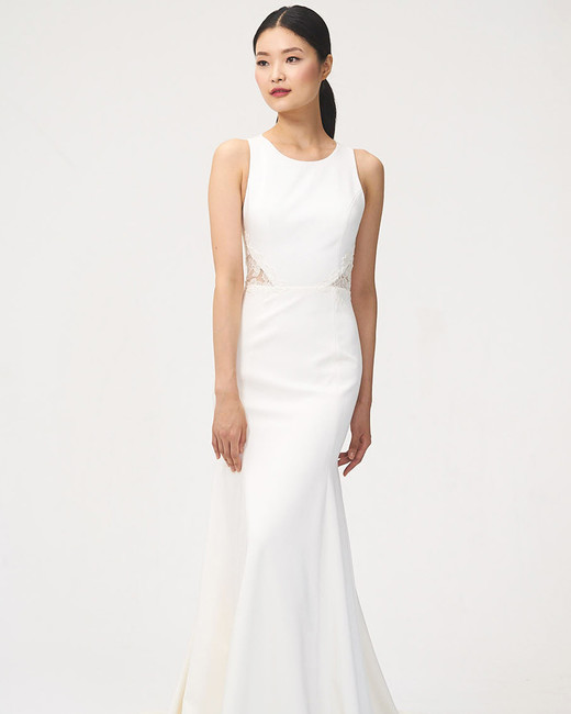 jenny by jenny yoo fall 2018 scoop neck lace cutouts wedding dress