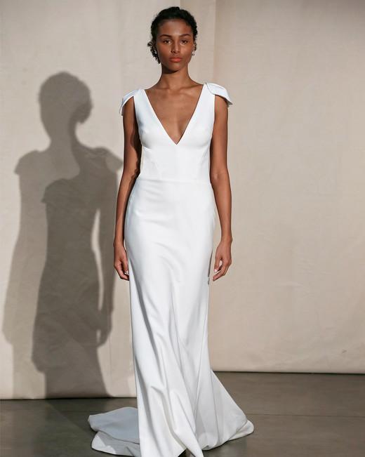 justin alexander v-neck shoulder detail wedding dress spring 2020