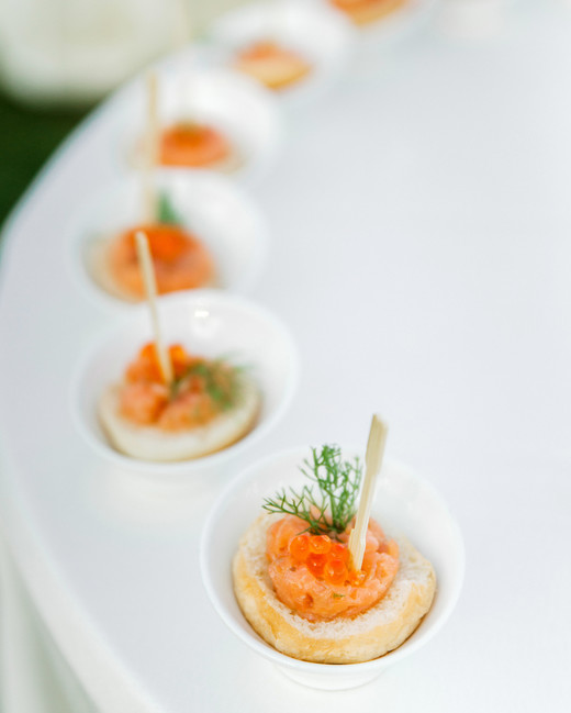 lisa greg italy wedding appetizers food