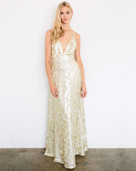 Simple Wedding Dresses You Can Wear Again: Metallic Bridesmaid Dresses That You Can Wear Over And
