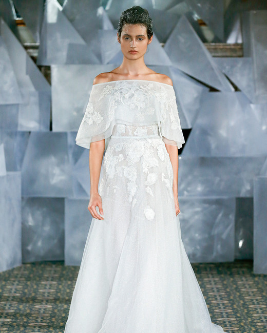 mira zwillinger wedding dress spring 2019 off-the-shoulder draped sleeves