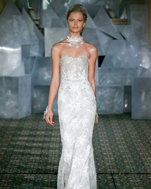 mira zwillinger wedding dress spring 2019 strapless embroidered sheath