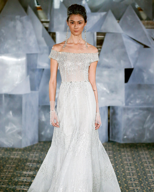 mira zwillinger wedding dress spring 2019 off-the-shoulder a-line beadwork