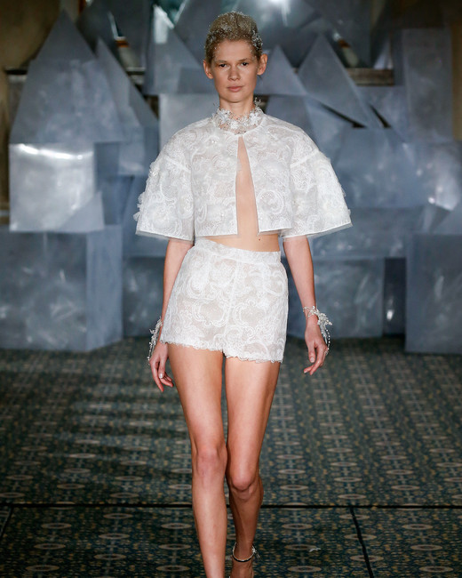 mira zwillinger wedding dress spring 2019 shorts and jacket separates