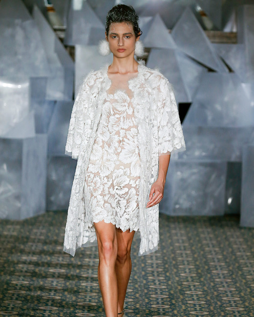 mira zwillinger wedding dress spring 2019 short dress embroidered jacket separates