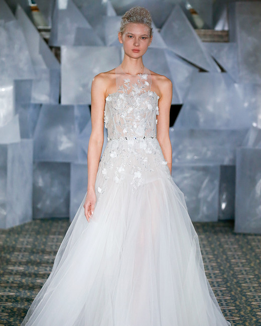 mira zwillinger wedding dress spring 2019 tulle ball gown illusion neck
