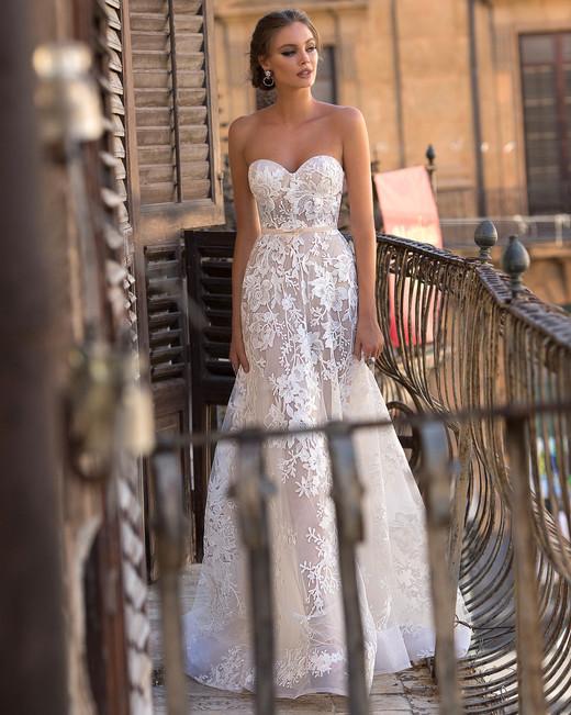 Muse by Berta Sweetheart Trumpet Wedding Dress Fall 2018