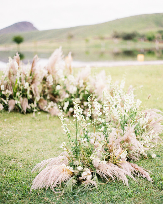 pampas grass ideas ground arch