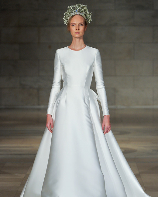 Long sleeve wedding dresses we love martha stewart weddings reem acra wedding dress junglespirit Gallery