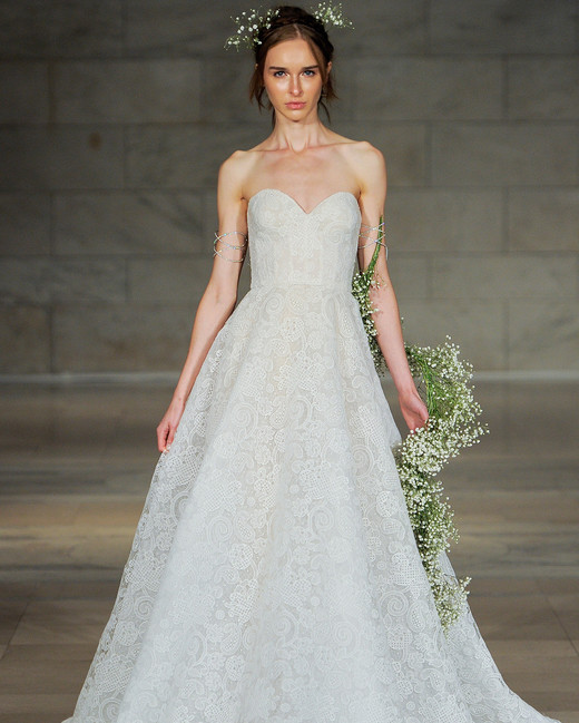 reem acra bridal market wedding dress fall 2018 sweetheart strapless a-line