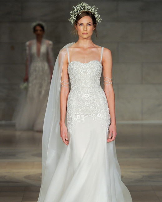 reem acra bridal market wedding dress fall 2018 sweetheart spaghetti strap
