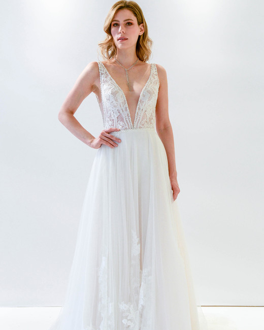 Willowby by Watters v-neck a-line wedding dress spring 2018