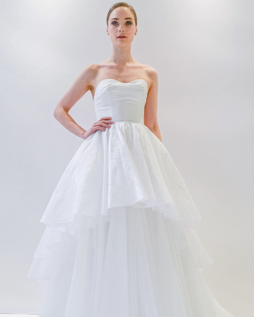 watters strapless wedding dress spring 2018