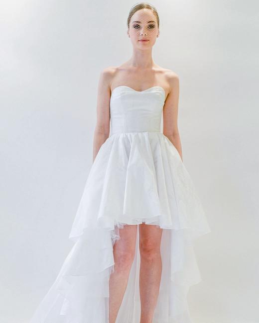 watters short wedding dress spring 2018