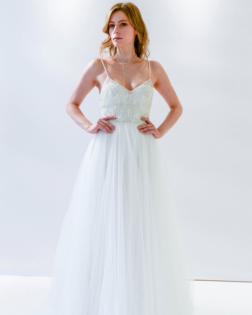 Willowby by Watters spaghetti strap a-line wedding dress spring 2018