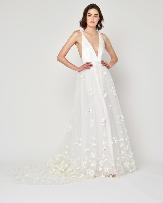 alexandra grecco wedding dress spring 2019 v-neck ball gown