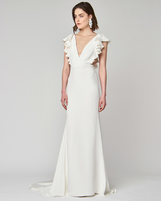 v-neck alexandra grecco trumpet wedding dress spring 2019