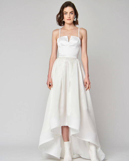 spaghetti strap alexandra grecco a-line wedding dress spring 2019