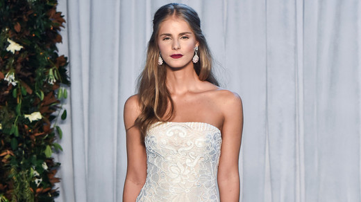 anne barge wedding dress fall 2018 strapless column beaded