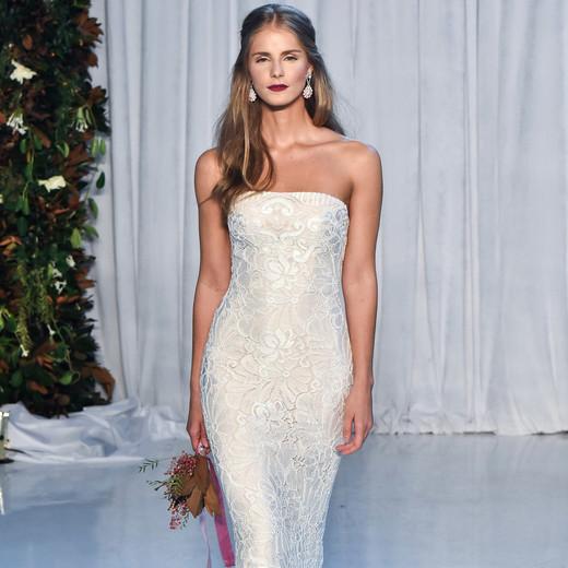 anne barge wedding dress fall 2018 strapless column beaded