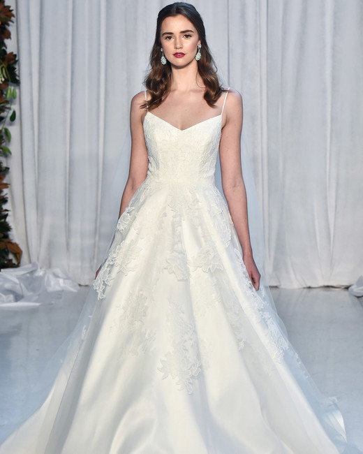 anne barge wedding dress fall 2018 spaghetti strap a-line