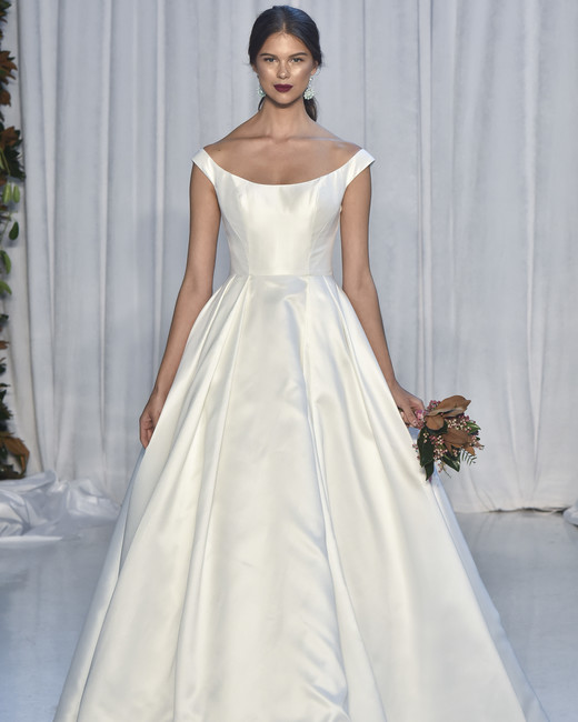 anne barge off-the-shoulder a-line wedding dress fall 2018