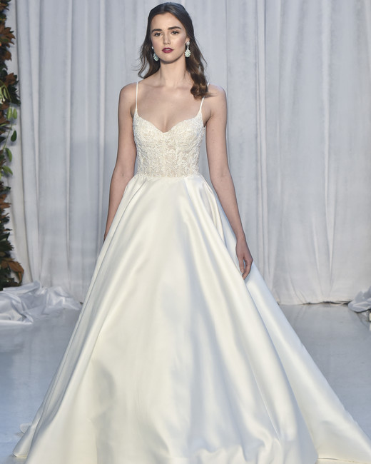anne barge lace spaghetti strap wedding dress fall 2018