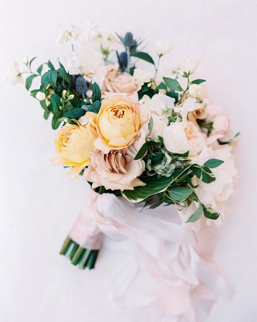 caitlin amit wedding soft pastel bouquet