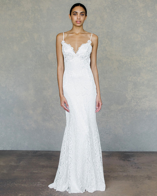 Claire pettibone spring 2019 wedding dress collection martha claire pettibone wedding dress spring 2019 spaghetti strap lace sheath junglespirit Images