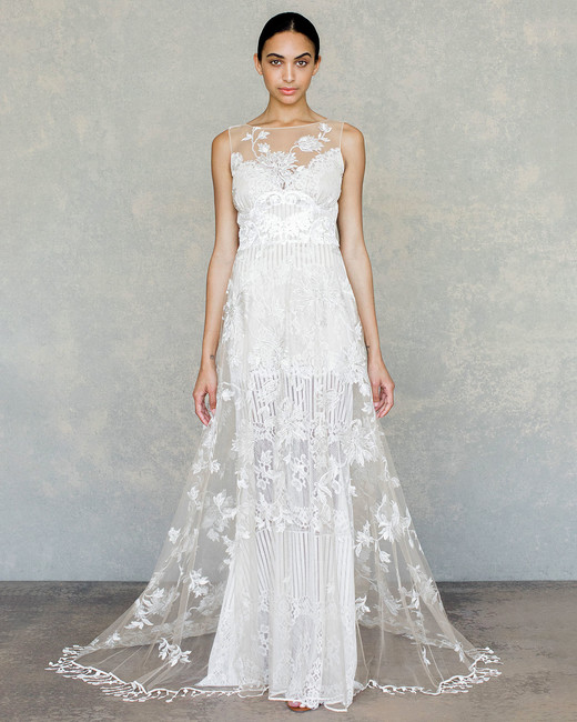 claire pettibone wedding dress spring 2019 high illusion neck embroidered overlay