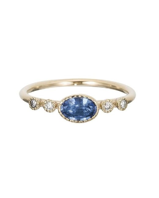 Ceylon Sapphire Dew Ring
