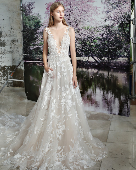 Gala by Galia Lahav floral applique wedding dress fall 2019