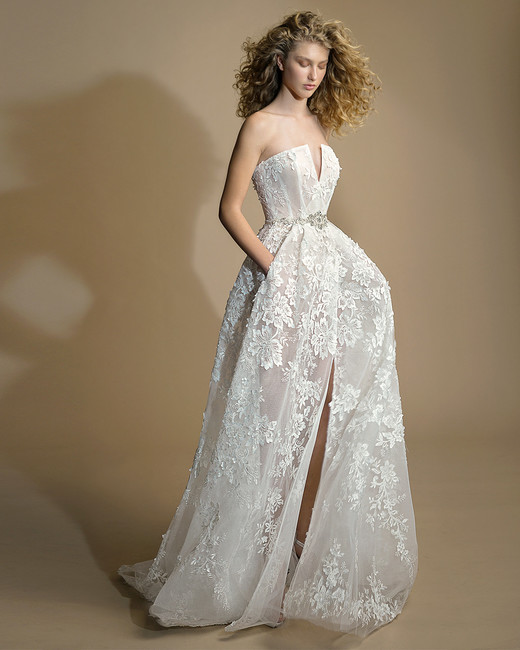 galia lahav gala wedding dress spring 2019 strapless lace ball gown