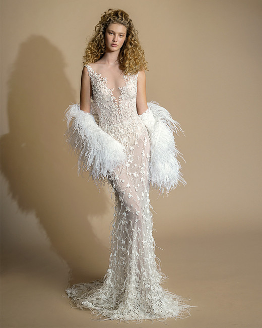 galia lahav gala wedding dress spring 2019 lace v-neck sheath