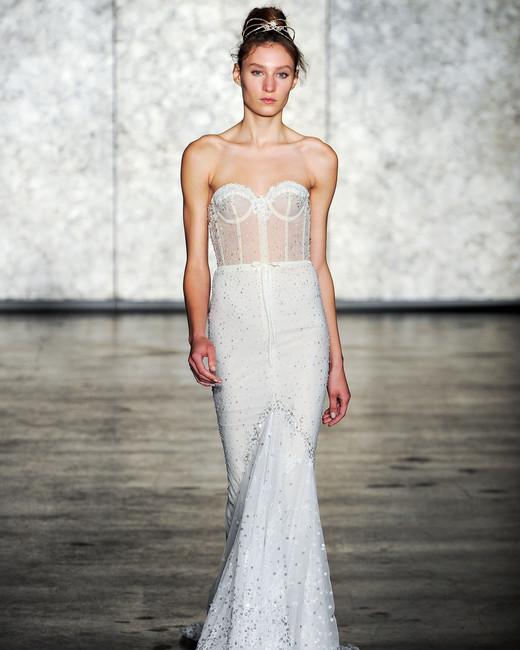 inbal dror wedding dress fall 2018 trumpet stapless beaded