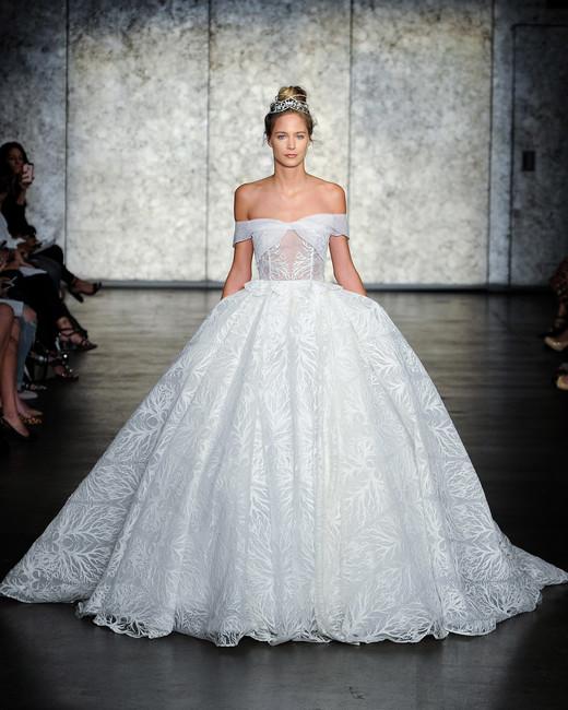 inbal dror fall 2018 off-shoulder ball gown wedding dress