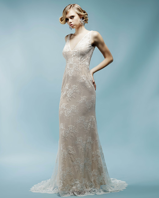 Lace V Neck Ivy Aster Wedding Dress Spring2018