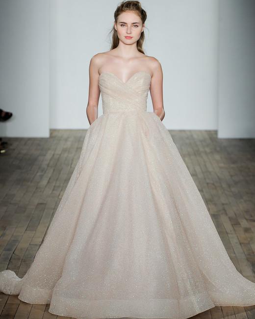 lazaro fall 2018 sweetheart champagne ballgown wedding dress