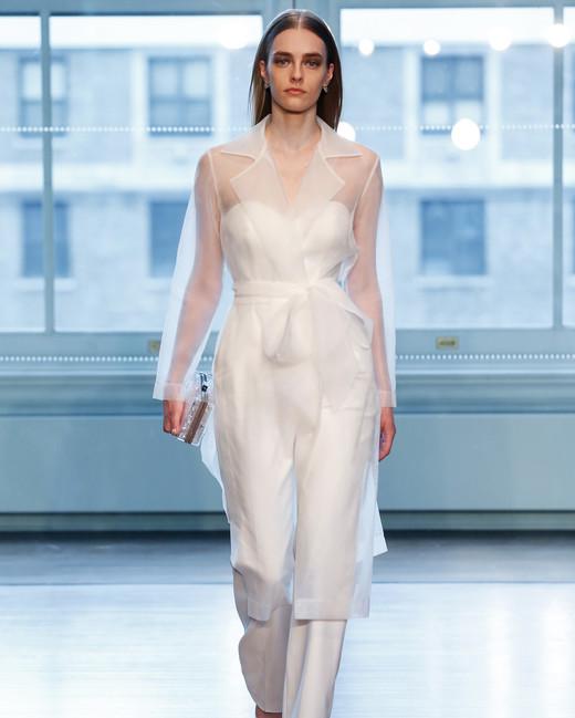 justin alexander wedding dress spring 2019 suit sheer jaceket