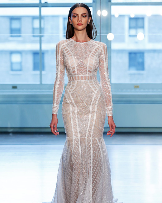 justin alexander wedding dress spring 2019 long sleeves sheer mermaid