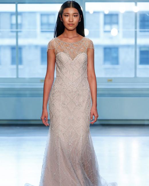 justin alexander wedding dress spring 2019 beaded short sleeves a-line