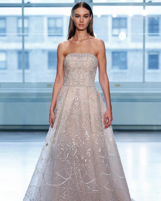 justin alexander wedding dress spring 2019 strapless beaded a-line champagne