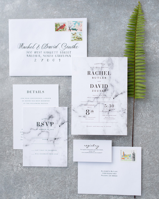 white marble stationary suit with black writing