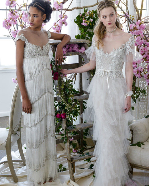 sheath illusion marchesa wedding dresses spring 2018