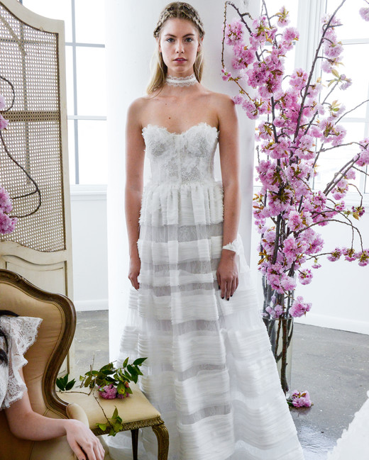 sweetheart a-line marchesa wedding dress spring 2018