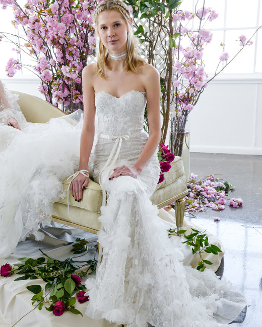 sweetheart mermaid marchesa wedding dress spring 2018