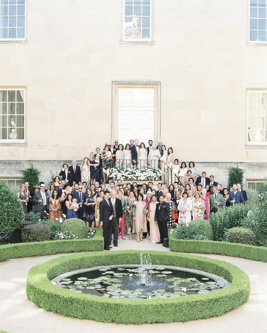 momina jack wedding guests group shot
